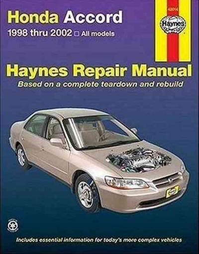 Honda Accord 1998-2002 Haynes Service Repair Manual