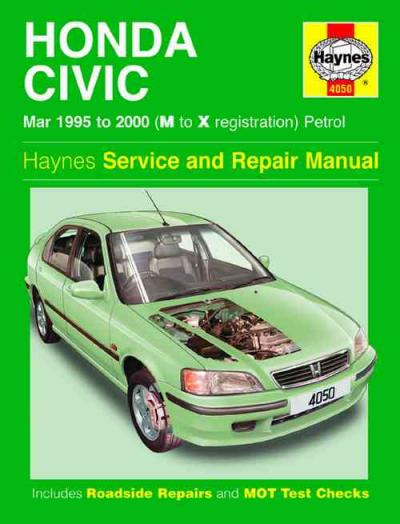 Honda Civic Petrol 1995 2000 Haynes Service Repair Manual    UK