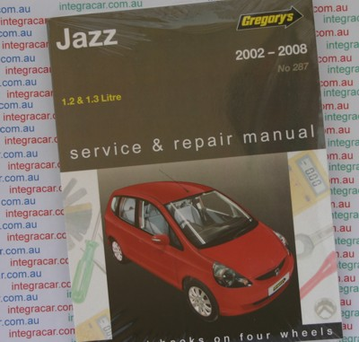 Honda Jazz 2002 2008 Gregorys Service Repair Manual sagin workshop
