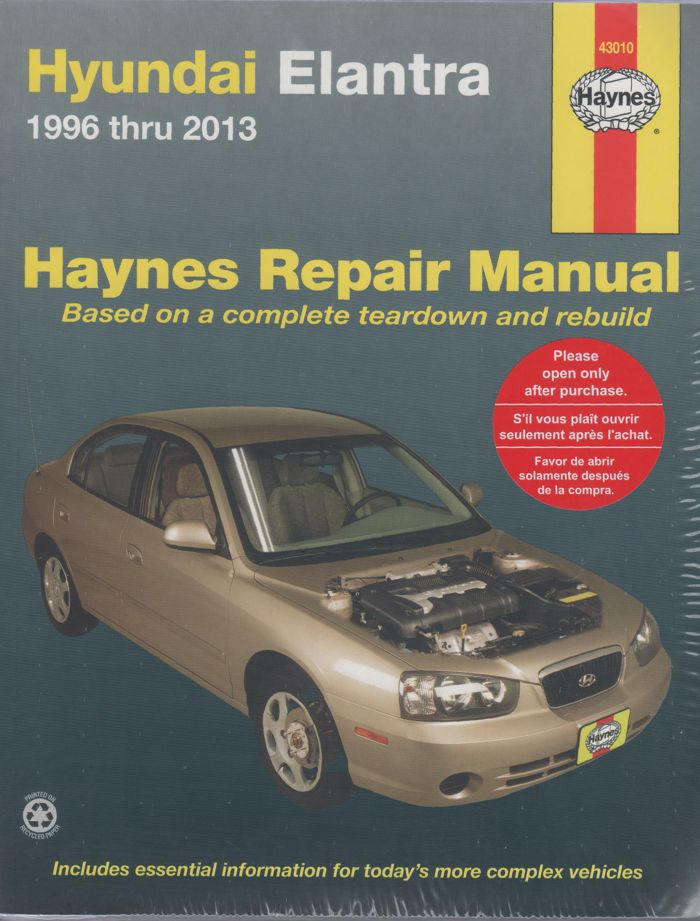 hyundai elantra haynes 1996 2013 sagin workshop car manuals repair books information. Black Bedroom Furniture Sets. Home Design Ideas