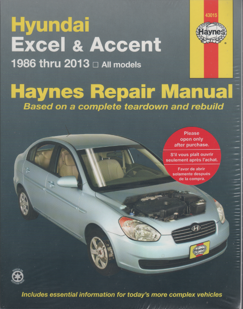 Hyundai Accent Workshop Repair Manual 1986-2013 - sagin