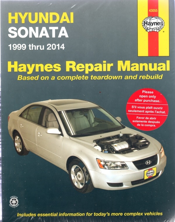 Hyundai Sonata 1999-2014 Haynes Service Repair Manual