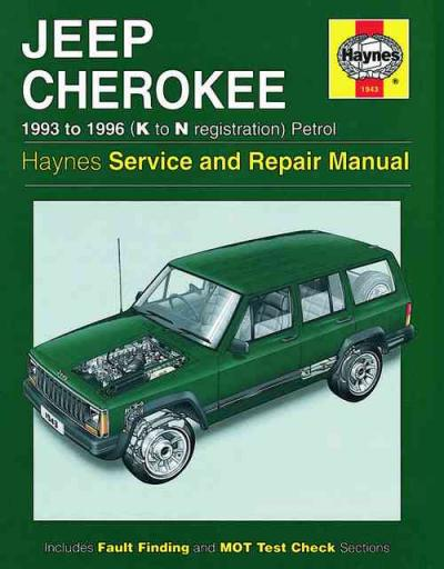 Jeep Cherokee Petrol 1993 1996 Haynes Service Repair Manual