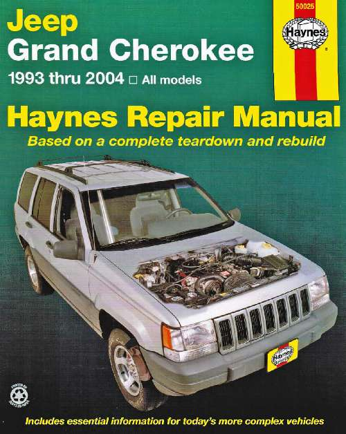 Jeep Grand Cherokee Haynes Service Repair Manual 1993 2004