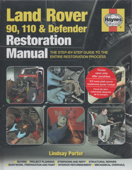 Land Rover 90 110 and Defender Restoration Manual    UK