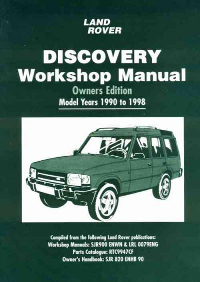 Land Rover Discovery 1990 1998 Workshop Manual   Brooklands Books Ltd UK