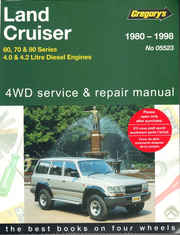 toyota landcruiser diesel 60 70 80 series repair manual. Black Bedroom Furniture Sets. Home Design Ideas