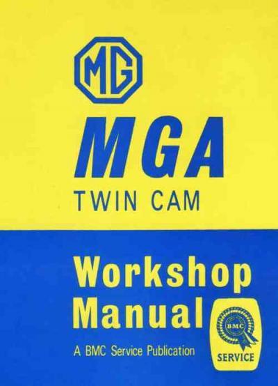 mg mga twin cam workshop manual brooklands books ltd uk