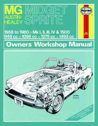 Mg Midget Austin Healey Sprite 1958 1980 Haynes Service Repair Manual
