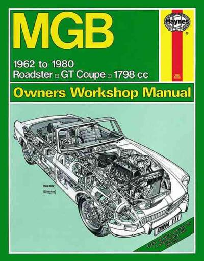MGB GT 1800 1962 1980 Haynes Service Repair Manual    UK