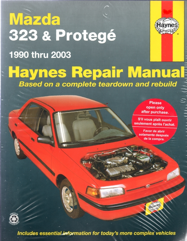 mazda 323 protege automotive repair manual 1990 2003 haynes repair manual
