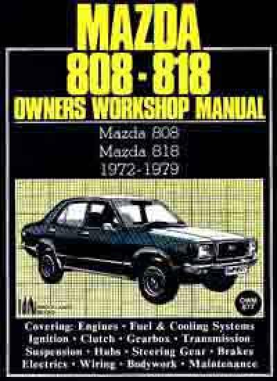 Mazda 808 and 818 1972 1979 Workshop Manual   Brooklands Books Ltd UK