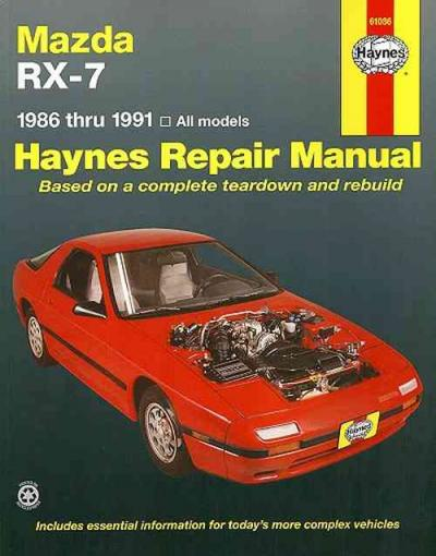 service manual  how to replace a 1991 mazda rx 7 wiper