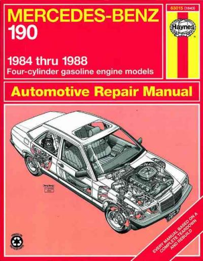 Mercedes benz 190 1984 1988 haynes service repair manual for Mercedes benz online repair manual