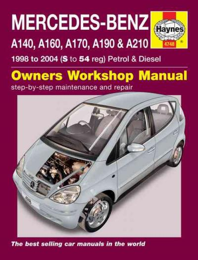 Mercedes Benz A Class Petrol Diesel 1998 2004 Haynes Service Repair Manual