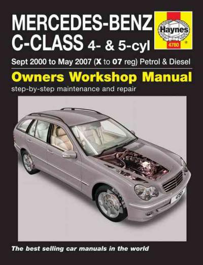 Mercedes benz c class w203 petrol diesel 2000 2007 sagin for 1998 mercedes benz c230 repair manual