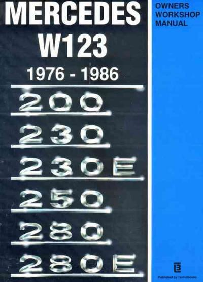 Mercedes benz w123 1976 1986 service repair manual for Mercedes benz user manual