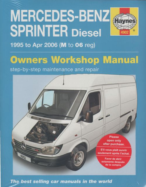 Mercedes Benz Sprinter Diesel 1995-2006 Workshop Manual