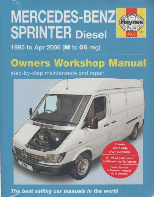 Mercedes benz sprinter diesel 1995 2006 workshop manual for Mercedes benz workshop manuals