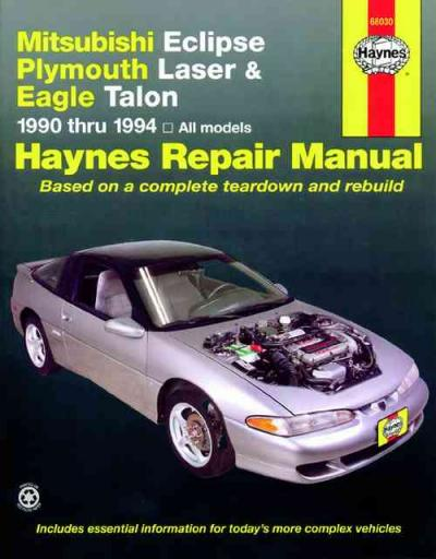 Mitsubishi Eclipse Plymouth Laser Eagle Talon 1990 1994