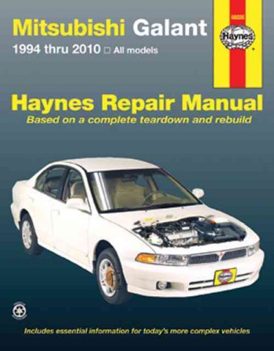 Mitsubishi Galant 1994 2010 Haynes Service Repair Manual