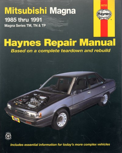 mitsubishi magna tm tn tp 1985 1991 haynes service repair. Black Bedroom Furniture Sets. Home Design Ideas