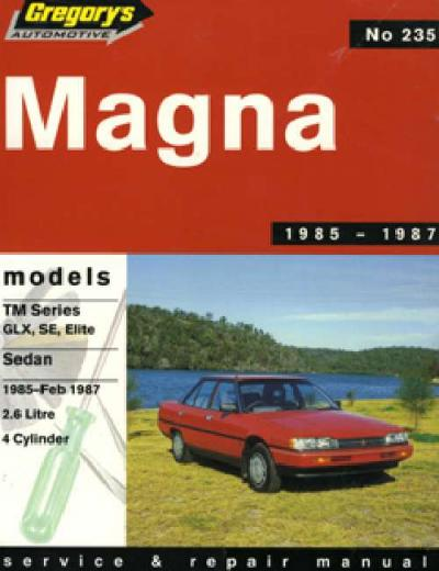 Mitsubishi Magna TM 4 1985 1987 Gregorys Service Repair Manual