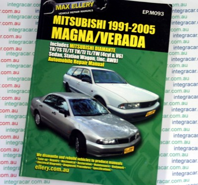 Mitsubishi Magna V6 Verada Ellery repair manual 1991-2005