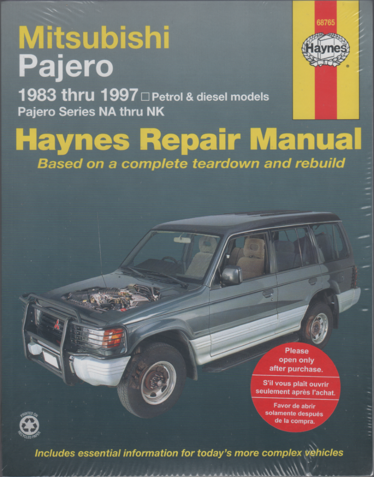 mitsubishi pajero na nk repair manual 1983 1997 sagin workshop rh workshoprepairmanual com au Nissan Frontier mitsubishi triton manual book pdf