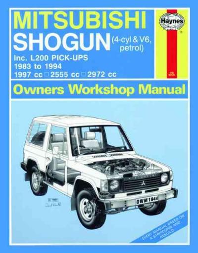 mitsubishi pajero triton l200 pick ups 1983 1994 sagin Used Mitsubishi Shogun Mitsubishi Lancer Evolution