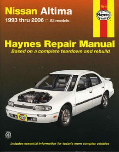 nissan bluebird altima 1993 2006 haynes service repair manual rh workshoprepairmanual com au nissan altima service manual 2013 nissan sentra service manual