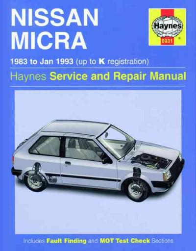 Nissan Micra 1983 1993 Haynes Service Repair Manual