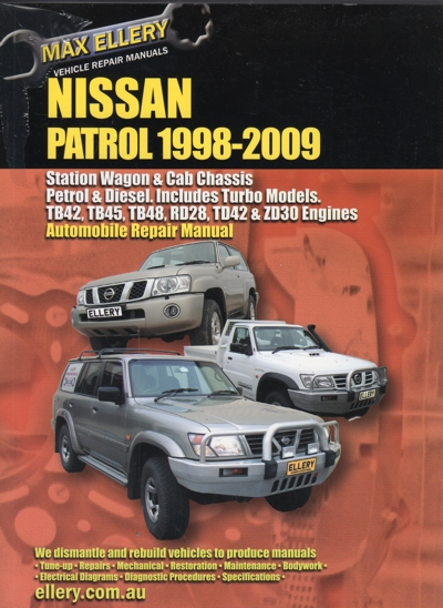 nissan patrol gu petrol and diesel 1998 2009 ellery repair manual rh workshoprepairmanual com au electronic service manual nissan patrol y61 service manual nissan patrol