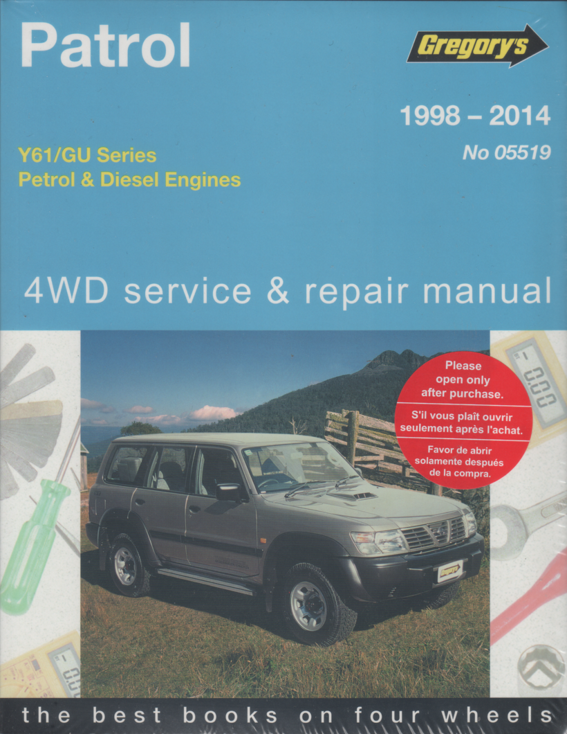nissan patrol gu series diesel 4wd 1998 2014 gregorys service repair rh workshoprepairmanual com au nissan patrol y60 repair manual nissan patrol y60 workshop manual