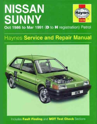 nissan sunny petrol 1986 1991 haynes service repair manual sagin rh workshoprepairmanual com au Nissan Sunny 1990 haynes repair manual nissan sunny