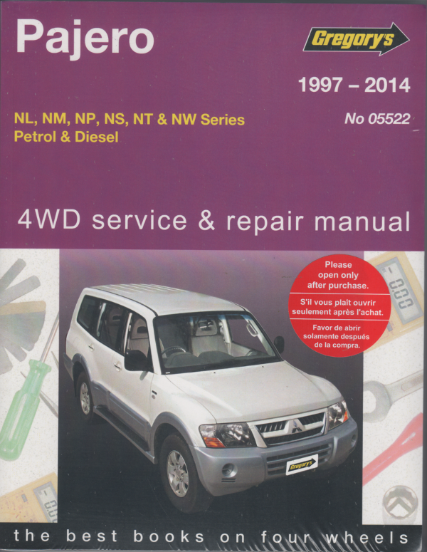 mitsubishi pajero 4wd petrol diesel 1997 2014 gregorys service rh workshoprepairmanual com au pajero owners manual 2005 pajero owners manual 2005