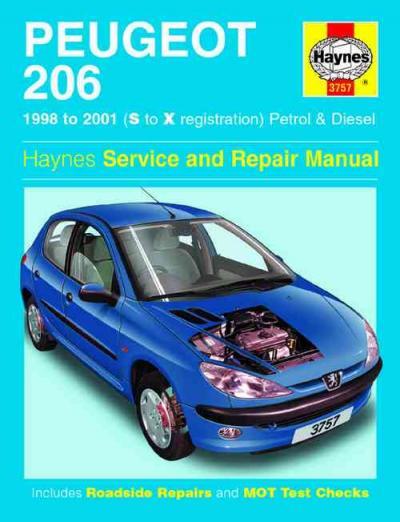 peugeot 206 petrol diesel 1998 2001 haynes service repair. Black Bedroom Furniture Sets. Home Design Ideas