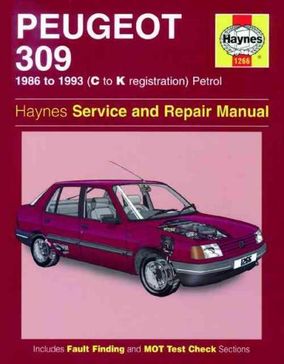 peugeot 309 petrol 1986 1993 haynes service repair manual. Black Bedroom Furniture Sets. Home Design Ideas