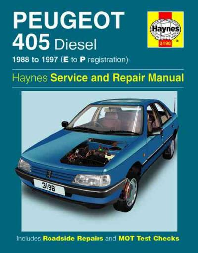 Peugeot 405 Diesel 1988 1997 Haynes Service Repair Manual    UK