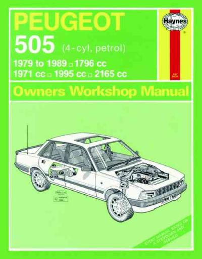 peugeot 505 petrol 1979 1989 haynes service repair manual used rh workshoprepairmanual com au Peugeot 405 Peugeot 604