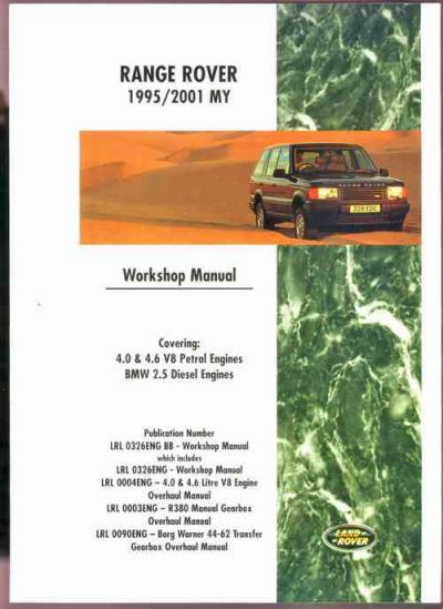 Range Rover 1995 2001 MY Workshop Manual   Brooklands Books Ltd UK