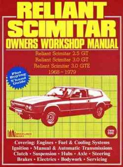 Reliant Scimitar 1968 1979 Service Repair Manual