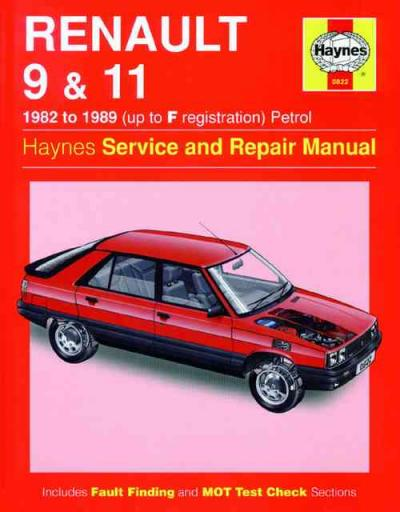 Renault 9 11 Petrol 1982 1989 Haynes Service Repair Manual