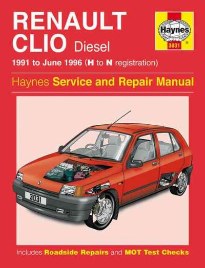 Renault Clio Diesel 1991 1996 Haynes Service Repair Manual border=