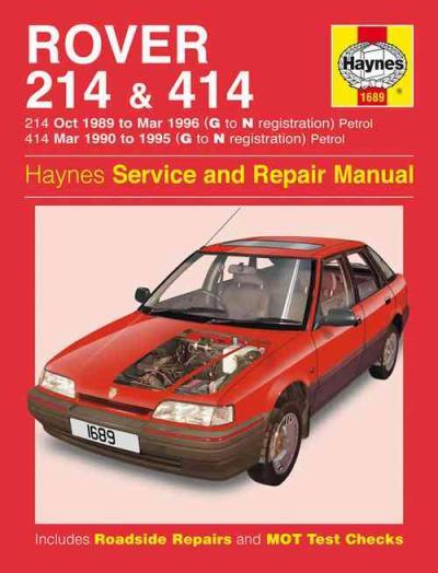 rover 214 414 petrol 1989 1996 haynes service repair. Black Bedroom Furniture Sets. Home Design Ideas