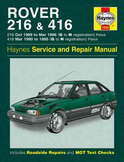 Rover 216 416 Petrol 1989 1996 Haynes Service Repair Manual