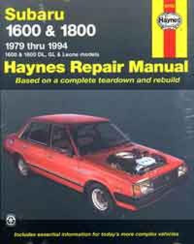 Subaru 1600 1800 1979 1994 Haynes Service Repair Manual