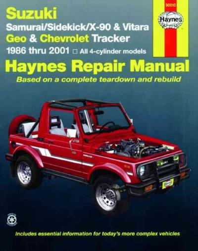 Suzuki Samurai Owners Manual
