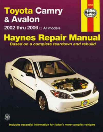 toyota camry avalon 2002 2006 haynes service repair manual sagin rh workshoprepairmanual com au 2002 Toyota Camry Starter Location 2002 Toyota Camry Le