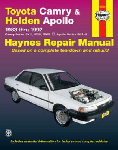 toyota camry holden apollo 1983 1992 haynes service repair manual sagin workshop car manuals. Black Bedroom Furniture Sets. Home Design Ideas